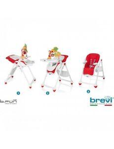 Seggiolone Sdraietta Brevi B-Fun Rosso Ciliegia 0+ Mesi