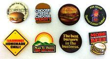 Lot of 8 Wendy's Hamburgers Fast Food Pins Cheeseburger Restaurant Pinbacks