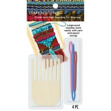 Comb And Plastic Yarn Needles For Weaving & Pencil Roving; Weave Loom Dimensions