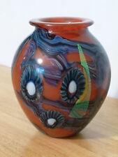 Eickholt Studios SEA ANEMONE Irridescent Art Glass Vase