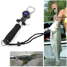 Fishing Fish Lip Gripper Trigger Grip +Spring Weight Scale + Inches Ruler Combo