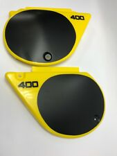 YELLOW Yamaha YZ 400D 400E Plastic Side Covers with 400 Decals NEW