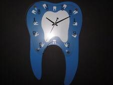 New Dental Teeth Shape Wall Clock For Dental Office Decoration Blue