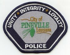 Pineville Louisiana Oval Bumper Sticker or Helmet Sticker D3989