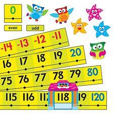 Trend Enterprises Owl-Stars! 20 to 120 Number Line Bulletin Board Set T-8299