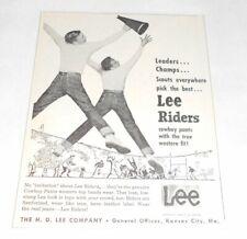 1959 Lee JEANS Lee Riders ad ~ Cheerleaders