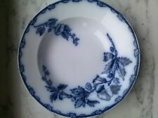antique blue delft societe ceramique soup plate ETRURIA