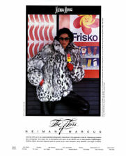1985 Neiman Marcus Sorbara Fur Furs fox jacket coat MAGAZINE AD