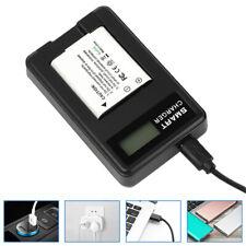 For OLYMPUS Li-50B/70B/90B/BKI/D-Li92 Camera Battery Charger.LCD Display USB