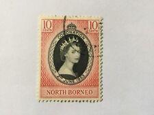 Malaya Malaysia Nort Borneo 1953 Coronation