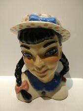 "Vintage Ceramic Arts Studio Head Vase Becky 5.5"""