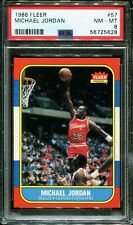Michael Jordan 1986-87 Fleer Basketball #57 RC Rookie PSA 8 NM-MINT * New Label