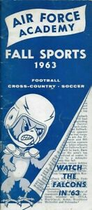 1963 AIR FORCE FALCONS FALL SPORTS(FB, Soccer, Cross Country) guide, Excellent