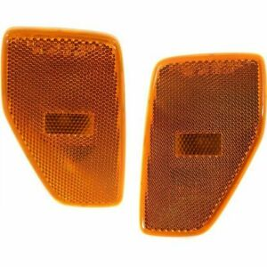 FITS FOR HUMMER H3 2006 - 2010 FRONT BUMPER REFLECTOR LAMP RIGHT & LEFT PAIR