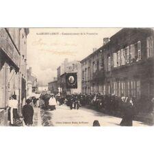 Cartes postale anciennes SAINT-GENEST-LERPT commencement de la procession éd joh
