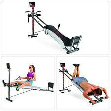 Total Gym 1400 w/ Workout DVD Full Body Resistance Legs Arms Core Exercise Home