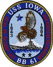USS Iowa BB 61 Uniform Patch