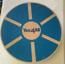 Yes4All Blue Wooden Balance Board Exercise Core Yoga Stability Wood Rocker Board