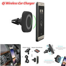 Qi Wireless Charger Magnetic Car Air Vent Mount Phone Fast Charging Stand Holder