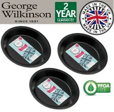 3 x George Wilkinson Originals 22cm Non Stick Pie Flan Crumble Dish Tray Plate