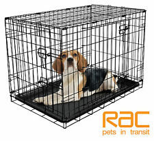 RAC DOG CAGE, FOLD FLAT PUPPY TRAINING CRATE - Medium 30""