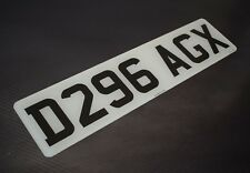 Single Front Short Small 7 digit Road Legal Number Plate MOT Compliant