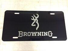 BROWNING Car Tag Diamond Etched on Aluminum License Plate