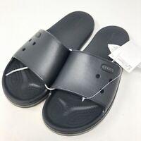 Crocs Crocband III Slide Black Graphite Men's Size 8 Women's Size 10 New