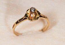 E.D. - Bague en Or jaune 18 Ct ou 750/1000ème et Diamant