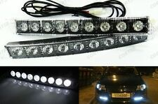 High Power Audi style 9 LED DRL Daytime Running Light Fog lamp Kit Universal Fit
