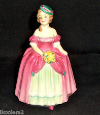 M73 - Royal Doulton Miniature Lady - Dainty May - 1940 Date Code - 4""