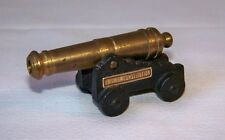 Vintage 1/0 MFCO Cast Iron Brass Barrel U.S.S.CONSTITUTION Miniature Toy Cannon