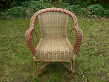ancienne petite chaise d'enfant en rotin