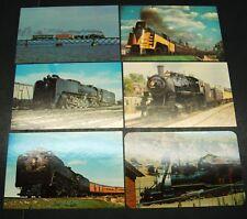 6- Vintage Color Photo RAILROAD Postcards (2) UP, (3) C&NW, (1) C&S ca. 1960