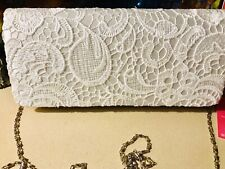 Anladia Wedding Lace White Clutch / Shoulder Bag. New.