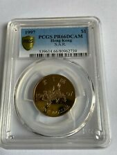 1997 Hong Kong SAR Special Issued One Dollar PCGS PR 66 DCAM