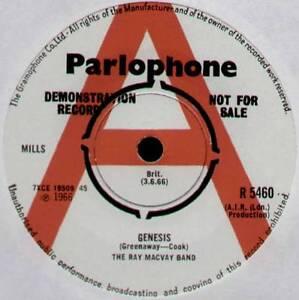 "[COOK / GREENAWAY] RAY MACVAY~GENESIS / HOUSE OF CLOWNS~1966 UK ""DEMO"" VINYL 7"""