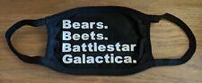 Bears beets battlestar galactica office Face mask