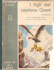 I FIGLI DEL CAPITANO GRANT ROMANZO G.VERNE UTET LA SCALA D'ORO (SA835)