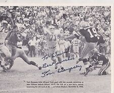 8x10 SIGNED PHOTO  #685 -  SPORTS - FOOTBALL - TOM DEMPSEY