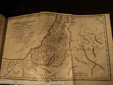 1749 1st ed Calmet BIBLE Holy Land HUGE Foldout MAPS Jerusalem Israel Judaica