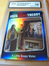 AMY 2013 THE BIG BANG THEORY SEASON 5 QUOTABLES FOIL SOAPY WATER # 02 GRADED 10