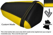 YELLOW & BLACK CUSTOM FITS KAWASAKI NINJA ZX6 R 09-13 PILLION SEAT COVER