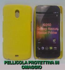 Pellicola + Custodia BACK cover RIGIDA GIALLA per Samsung Galaxy Nexus I9250