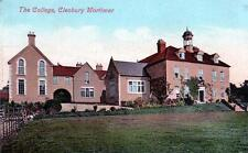 The College Cleobury Mortimer unused old postcard by Valentines