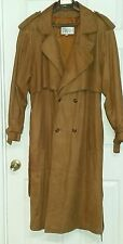 Mens Leather Outback Style Brown Jacket Trench Vintage Pelle Soft Lined Size L