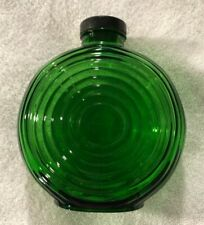Owens Illinois Green Ribbed Water Bottle - Forest Green