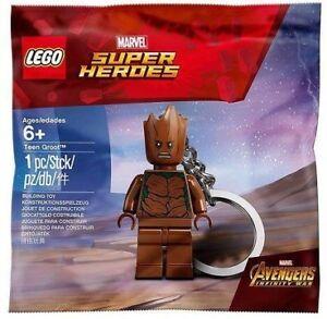 LEGO Super Heroes Teen Groot Minifigure Keychain Polybag Set 5005244