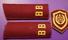 Soldat Schulterklappen + Ärmelabzeichen Schulterstücke UdSSR Uniform Innere Tr