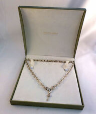 "Judith Ripka 20"" Sterling Key to My Heart Necklace W/ Gift Box"